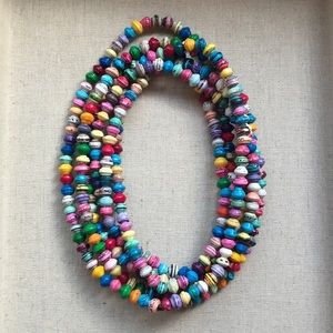 Noonday Dainty Paper Bead Necklace